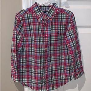 RL plaid boys shirt sz 4/4T